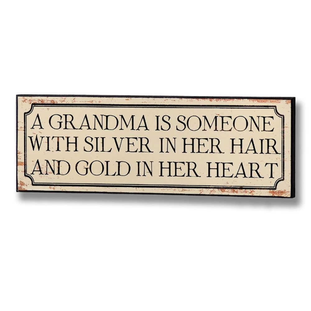Grandma Plaque Wooden Sign - 14cm x 40cm